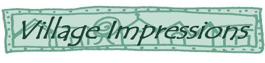 Village Impressions - Custom Made Clear Rubber Art Stamps - Logo